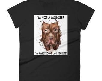 Pitbull T Shirt - I'm Not A Monster. Pit bull Shirt. Pitbull Shirt. Pitbull Tee. Pitbull Tee Shirt. Pitbull Shirt Gift. Pit bull Tee