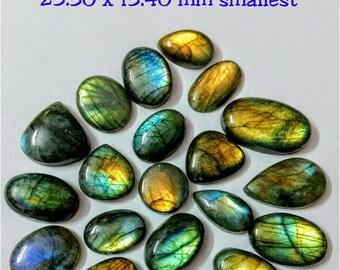 21 Pcs Lot, Mix Shape Multy Fire Labradorite Cabochon/wholesal/Labradorite /Wire Wrapp grmstone/ Designer Jewelry /labradorite cabochon lot