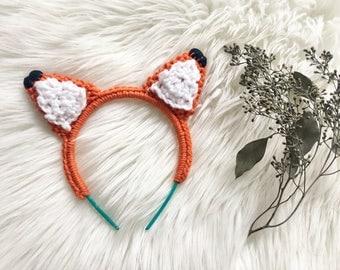 Cute Knit Fox Ear Headband