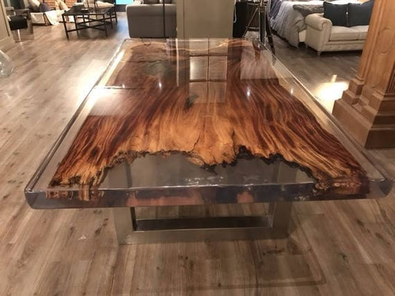 plank table with parota encapsulated in resin polyester glass. Black Bedroom Furniture Sets. Home Design Ideas
