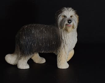 Sandicast, BRIARD, small size sculpture, DOG Figurine, Statue, Hand Painted, Resin, Replica Realistic, Gift Pet Lovers, Dog, Collectible