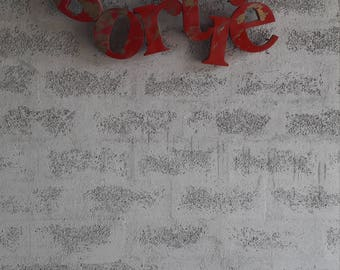 Aged metal sign letters