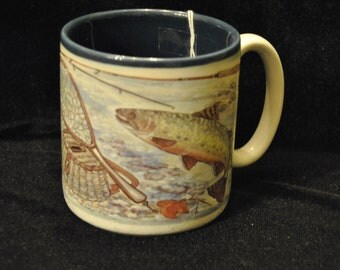 Vintage Fishing Mug