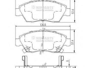 Brake pads front rear disc BAUER 45022S04V10 5SP564 HONDA CIVIC 95->