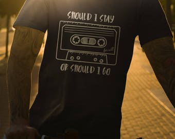 Should I stay or should I go stranger things SVG AI Cutfile Silhouette Cameo