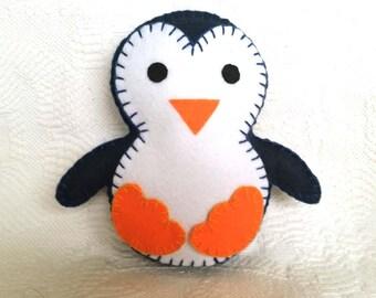 Little Penguin, Penguin Felt Toy, Navy Blue Penguin