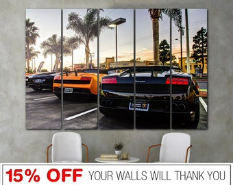 Lamborghini canvas, Lamborghini Aventador, Lamborghini wall art, Lamborghini print, Supercar canvas, Car canvas, Wall art, Car Poster