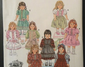 """Craft Vintage Simplicity 9856 18"""" Doll Sewing Pattern Uncut"""