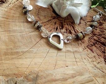 Bracelet en quartz rutile doré (inclusions couleur doré) et quartz rutile marron (inclusions couleur bronze) Par AngelS SignS