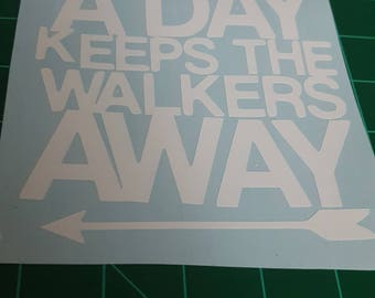 An Arrow a Day Keeps the Walkers Away--The Walking Dead decal