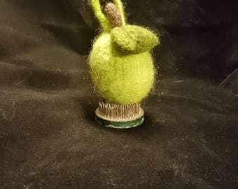 Felted Ornament--Lime