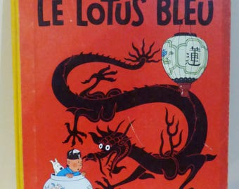 Comic book from Hergé COLLECTION * the adventures of Tintin * Blue Lotus