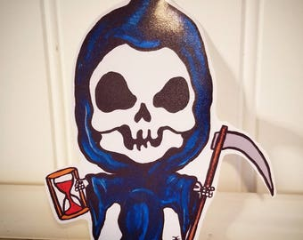 CREEPY CUTE Homemade Vinyl Kawaii Grim Ripper Sticker