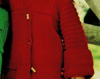 Child's Coat / Jacket, Knitting Pattern, Instant Download.