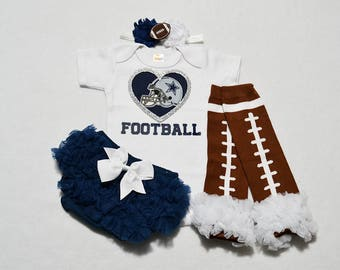 Dallas cowboys baby etsy dallas cowboys baby girl outfit baby girl dallas cowboys outfit girls cowboys outfit negle Gallery