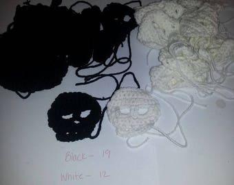Crochet Skull Applique Pattern