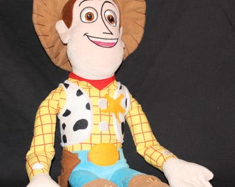 """Toy Story 26"""" Plush Sheriff Woody Disney Pixar Cowboy Plush Doll in Boots Vest and Hat"""