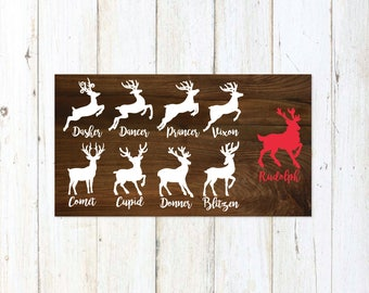 Reindeer SVG, Christmas SVG, Christmas svg Bundle, Distressed svg, Sign, Vector, DXF, Print, Fixer Upper, Magnolia Farms, Modern Farmhouse