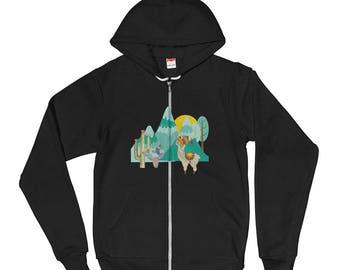 Cute Llama desert scene Hoodie sweater