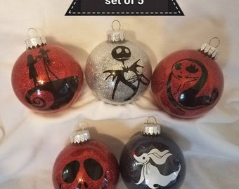 night before Christmas inspired ornaments