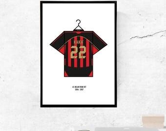 Kaka', AC Milan 06/07' Home Kit - A3/A4 Print