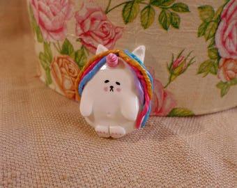 Cute Unicorn Pins, Polymer clay Unicorn, cute unicorn brooch, cute clay unicorn, unicorn jewelry, cute unicorn jewelry, chubby unicorn