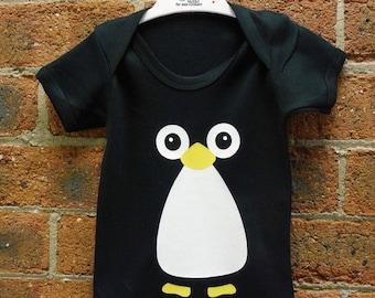 Penguin Cute Baby Vest / Baby Grow / Baby Playsuit