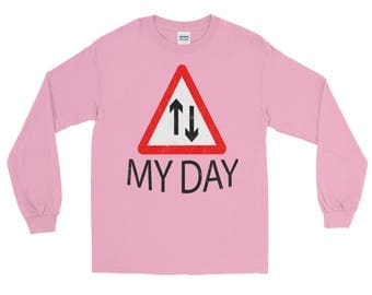 My Day up and down Spartees Distressed unisex Long Sleeve T-Shirt