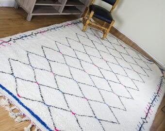 Moroccan Berber Rug 6,1x8,6 Pi, 185x260 Cm, Wool Berber Carpet