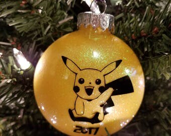 Pokemon Inspired Pikachu Ornament