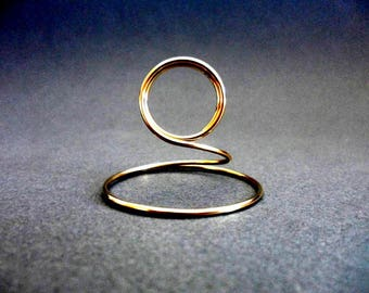 """Gold Table Number Holder, Gold Sign Holder, Wedding Table Number Stand, Solid Gold Brass for cards up to 5"""" x 7"""""""
