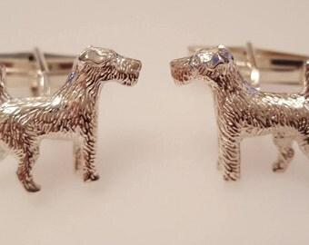 Fox Terrier Cufflinks in .925 Sterling Silver