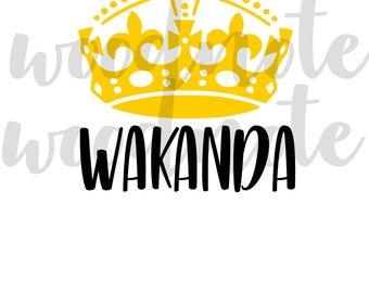 Queen of Wakanda SVG Black Panther SVG Black Pride Africa African American PNG Diva Queen Black Women Strength Slay