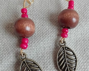 Autumn inspired earrings, earthy earrings, leaf earrings, gifts for her