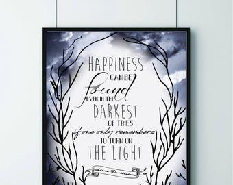 Harry Potter Quote, Albus Dumbledore Quote, Positive Quote, Film Quote
