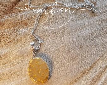 Oval Pendant Necklace; breastmilk jewelry