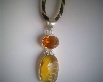 Honey Brandy  faceted citrine in silver