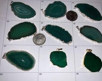 Engraved Agate Pendants