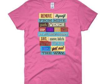 Women's t-shirt Funny Text