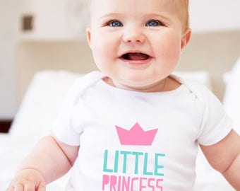 princess gift, little princess, baby princess, princess romper, princess girl, baby girl romper