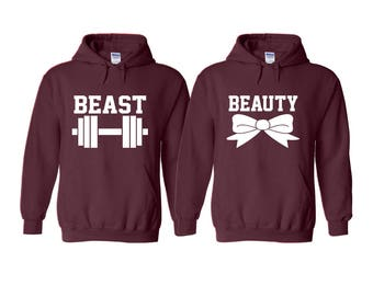 Beast and The Beauty Couple Hoodie