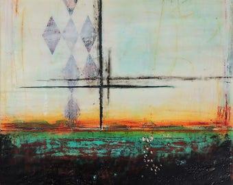 SALE~Encaustic Painting Seven
