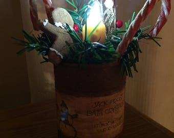 Rustic Christmas Can