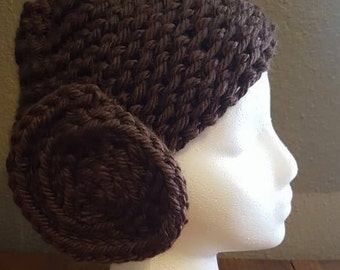 Princess Leia Knitted Hat