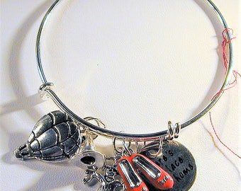 Wizard of Oz Inspired Bangle Charm Bracelet