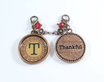 T Initial Charms, Initial Charms, Letter Charms, Initial Pendants,  Letter Pendants