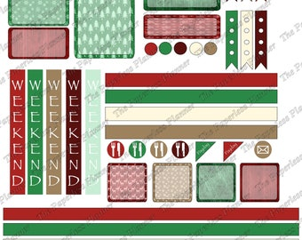 December Digital Planner Stickers