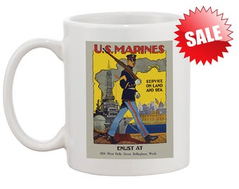 MARINE Gift Mug Grandpa Brother Sister Gift Mug for Marine United States of America USA Mug Marines US Mug Best Gift Birthday Marines Mug
