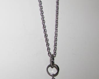 Necklace with crystal drop pendant