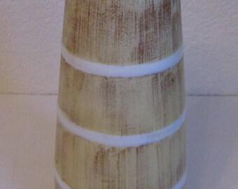 Vase Opal Plazuid Gouda Holland 3755 Bamboo 1960 Ceramics Dutch